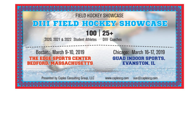 Get discovered by top DIII Field Hockey Coaches
