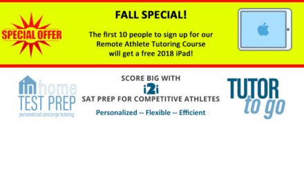 SPECIAL OFFER: SCORE BIG with i2i SAT Prep for Competitive Athletes